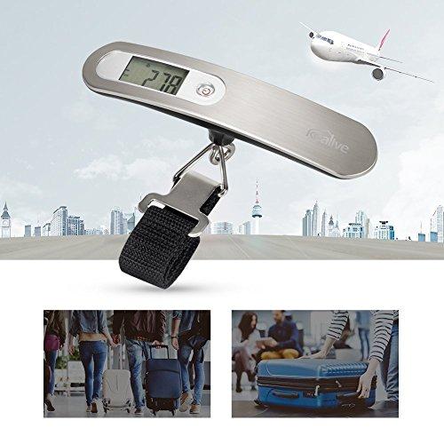 Gepäckwaage für Reisende, Einheitenumrechnung ( 100lb = 50kg )  50kg Max Gewicht