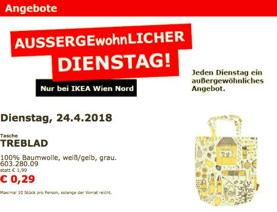 Ikea Wien Nord: TREBLAD Tasche