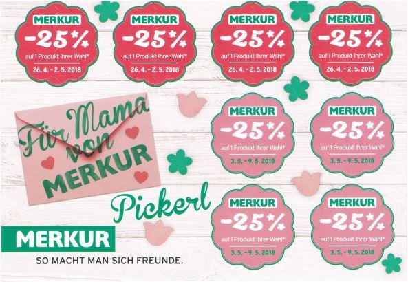 MERKUR  -25% Rabatt auf Produkte eurer Wahl vom 26.4. bis 9.5.
