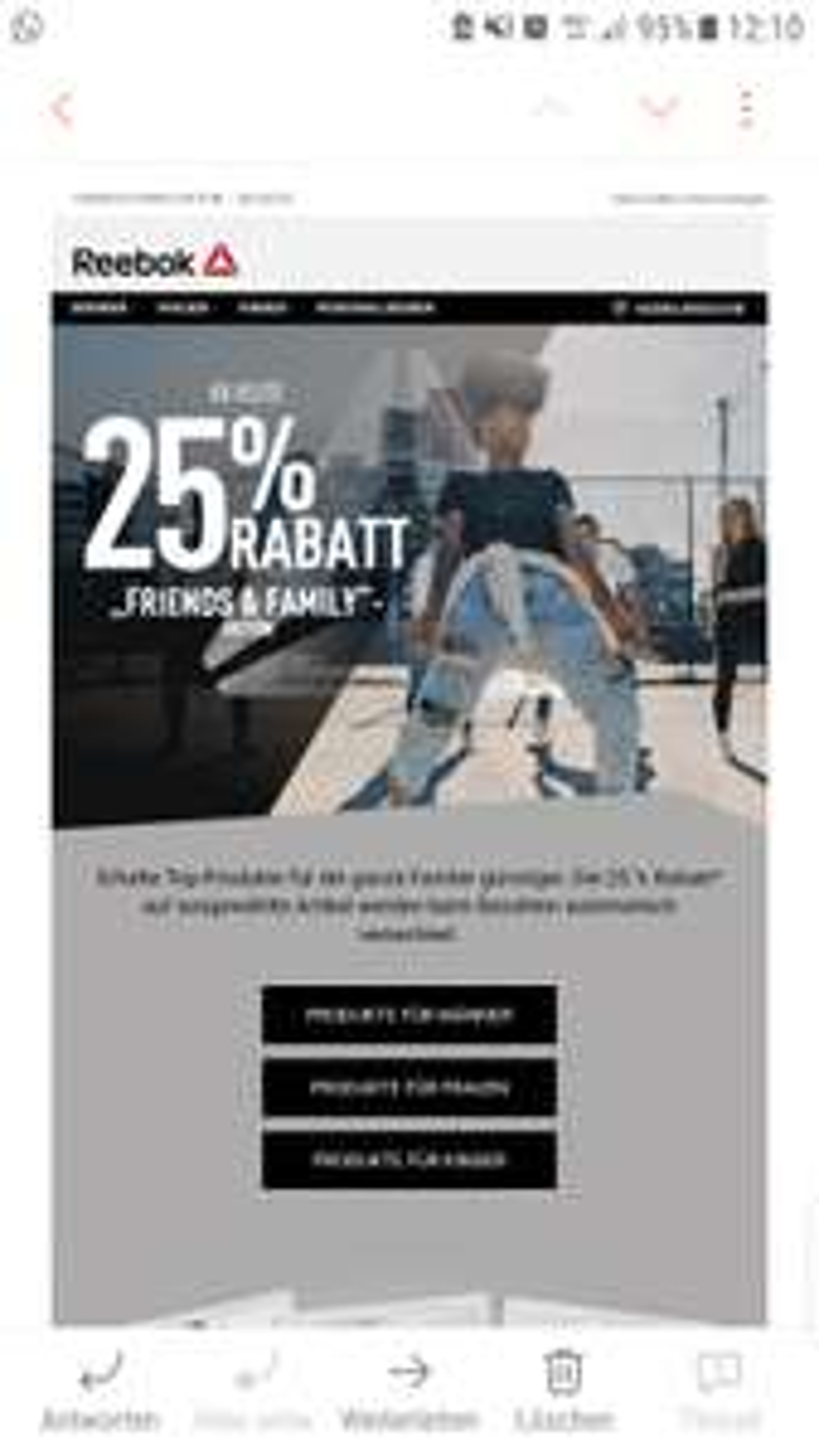 Reebok -25%