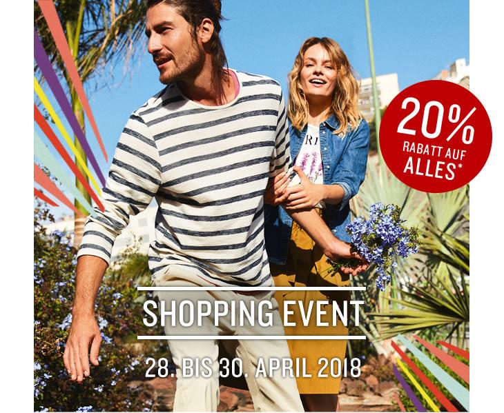 Tom Tailor: 20% Rabatt auf alles (inkl. Sale) - nur bis zum 30. April