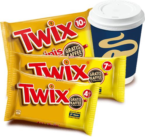 Gratis Kaffee bei Kauf einer Twix Aktionspackung