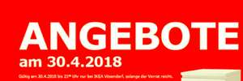 IKEA Vösendorf Angebote am 30.04.2018