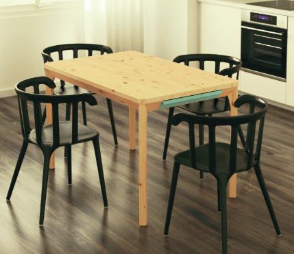 Ikea Vösendorf: Tisch PS 2014 aus massivem Kiefer
