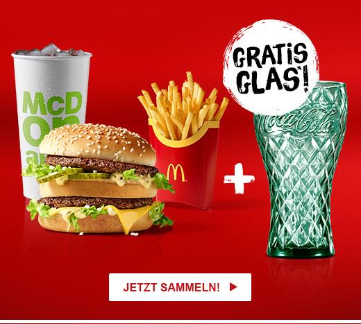 McDonald's: Gratis Coca-Cola Glas zum McMenü oder für 25 Ms Punkte
