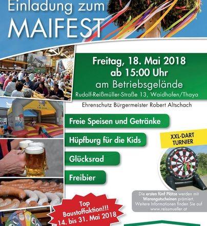 Freitag, 18. Mai 2018 ab 15 Uhr: GRATIS Speisen, Getränke, Bier in 3830 Waidhofen/Thaya