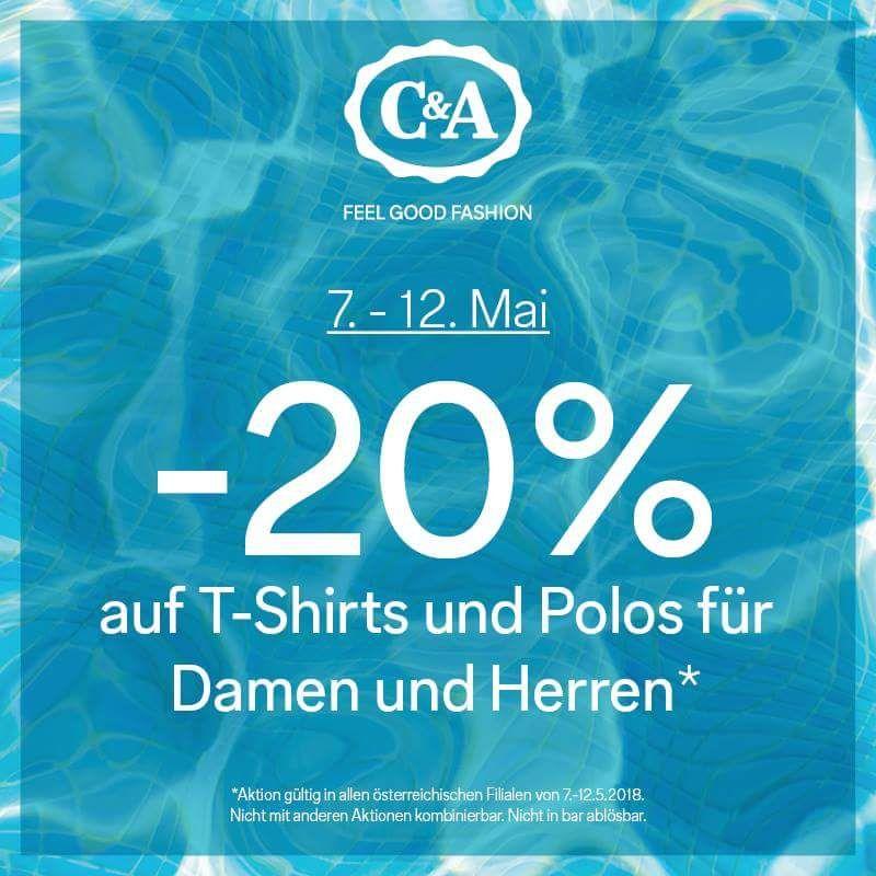 -20% auf T-shirts und Polos für Damen und Herren