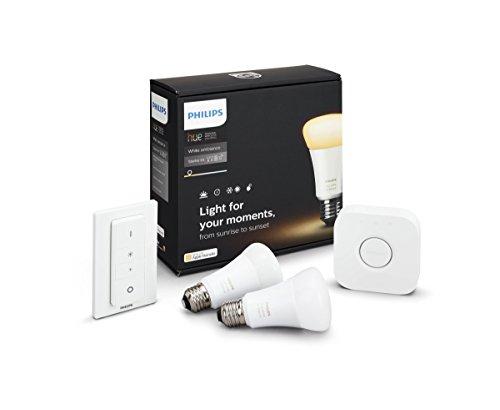 Amazon Philips Hue White Ambiance E27 LED Lampe Starter Set, 69.98 Eur