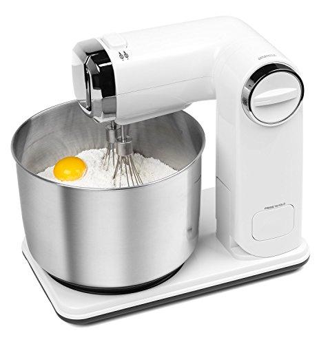 [www.AMAZON.de] MEDION® Faltbare Küchenmaschine MD 17664, 6 Geschwindigkeitsstufen, 5-teiliges Zubehör-Set, 300 Watt Leistung, weiß für € 35,10