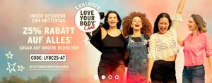 """The Body Shop: -25% auf Alles für """"Love your Body"""" Club Mitglieder"""