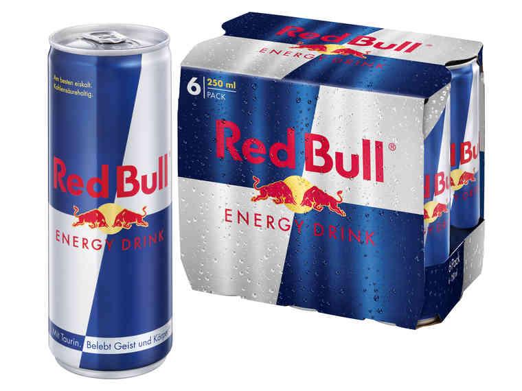 LIDL RED BULL Energydrink pro Dose im 6er Pack am Fr 18.5. + Sa 19.5.