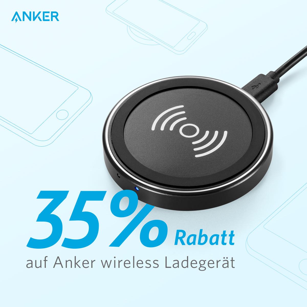 Anker PowerPort Wireless Charger - im Tagesangebot