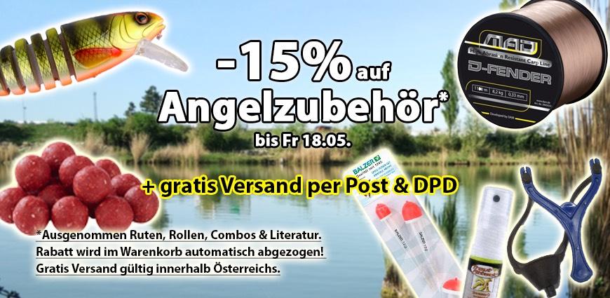 Fischzeux.at -15% auf Angelzubehör + Gratis Versand