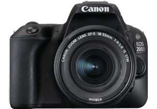 CANON EOS 200D Kit Spiegelreflexkamera 24.2 Megapixel mit Objektiv 18-55 mm f/5.6, 7.7 cm Touchscreen, WLAN