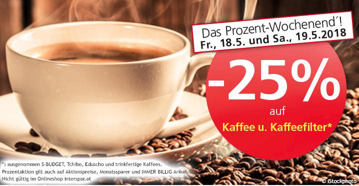 Spar Kaffee Prozent Wochenende 18.5. - 19.5.2018