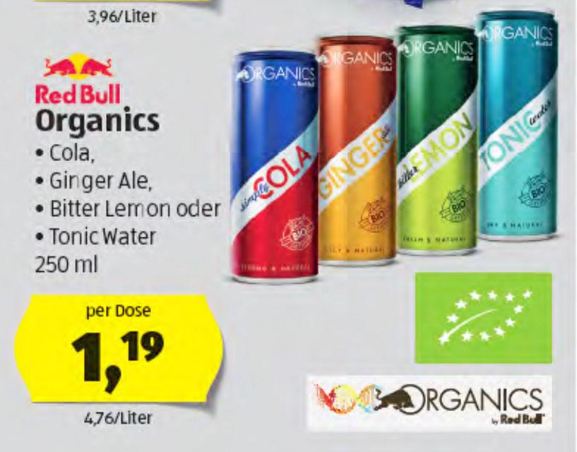 RED BULL Organics um nur 1,19€ beim (Hofer)