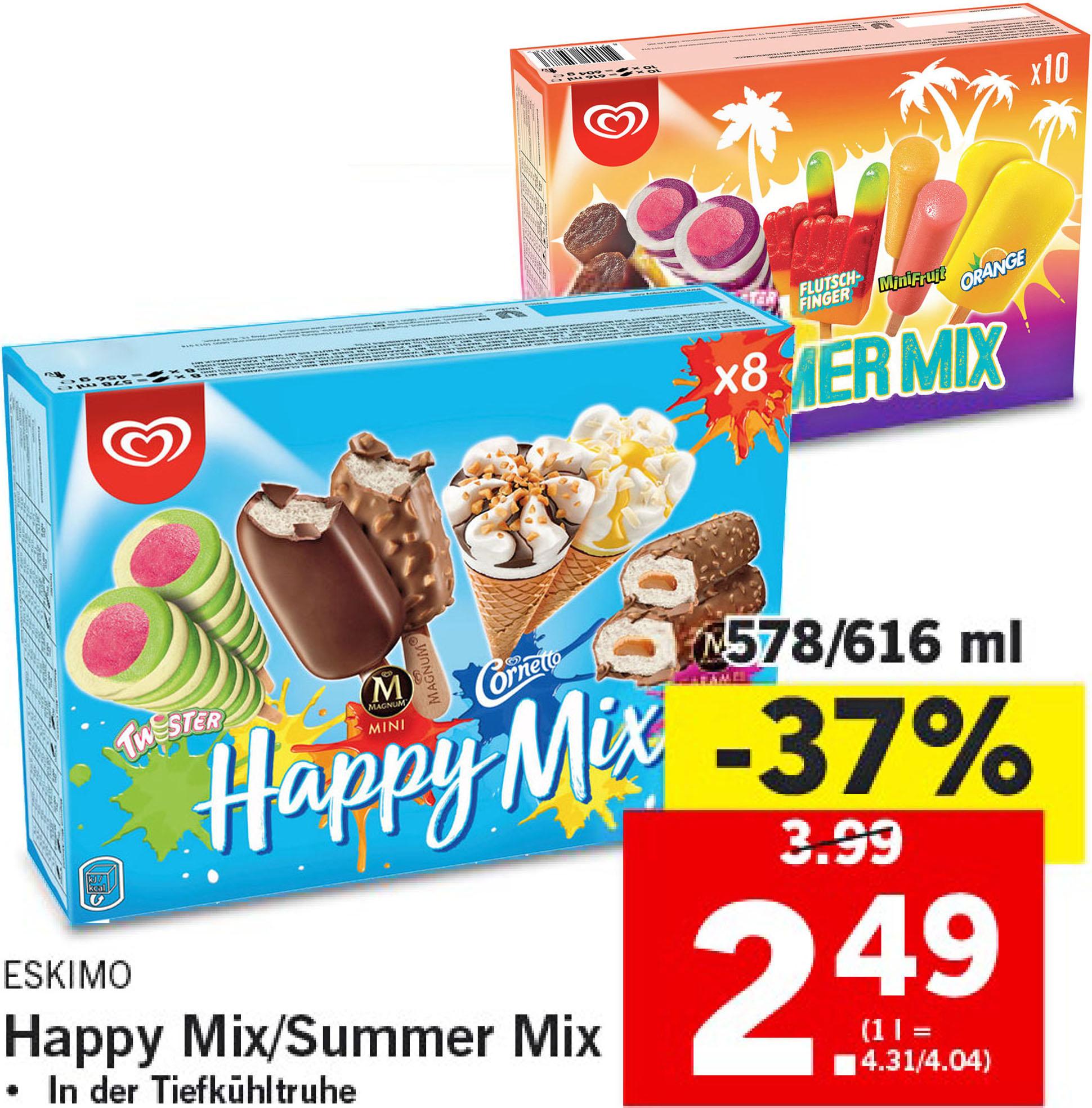 Lidl hat den Happy Mix von Eskimo um nur 2,49€ im Angebot