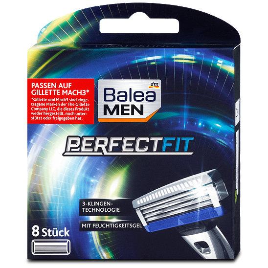 Balea MEN PerfectFit 8 Ersatzklingen (für alle Gillette Mach3-Rasierer)