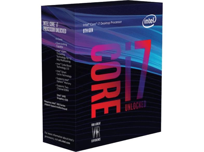 Intel Core i7-8700K, 6x 3.70GHz, boxed ohne Kühler (BX80684I78700K) für 299,98€