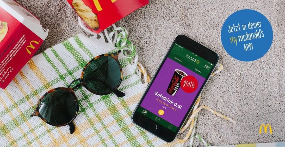 McDonalds: Gratis 0.5L Softdrink in der myMcDonalds App