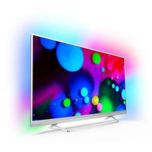 Philips 49PUS6482/12 123cm (49 Zoll) LED-Fernseher (Ultra-HD, Smart TV, Android, Ambilight) [Energieklasse A]