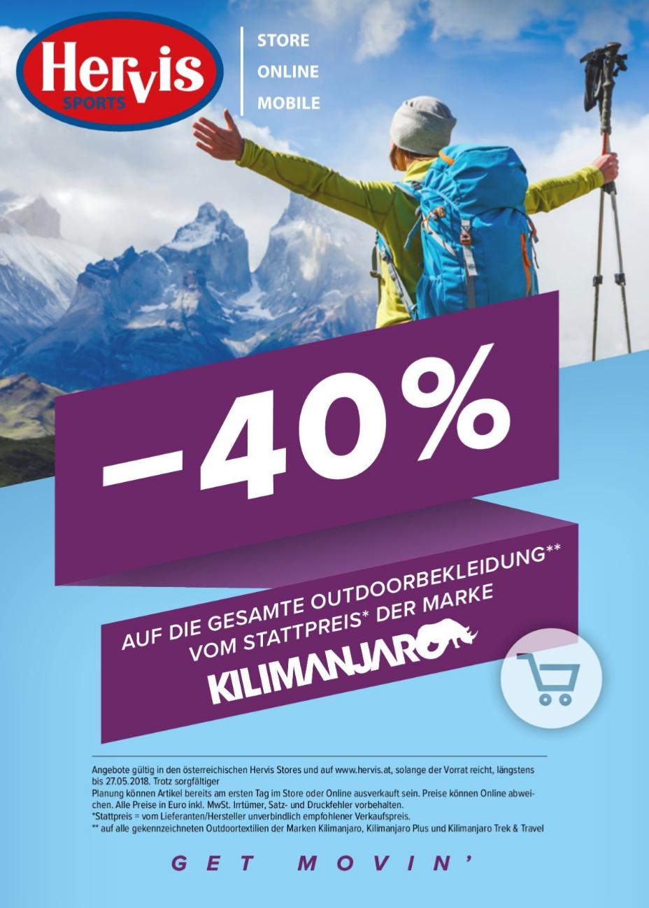 -40% bei Hervis auf Kilimanjaro Outdoor