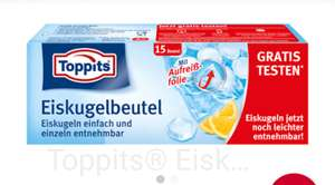 Toppits Eiskugelbeutel gratis testen (Cashback)