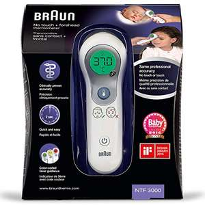 Amazon - Braun NTF3000 No-Touch Stirnthermometer NTF3000 29,74 Euro