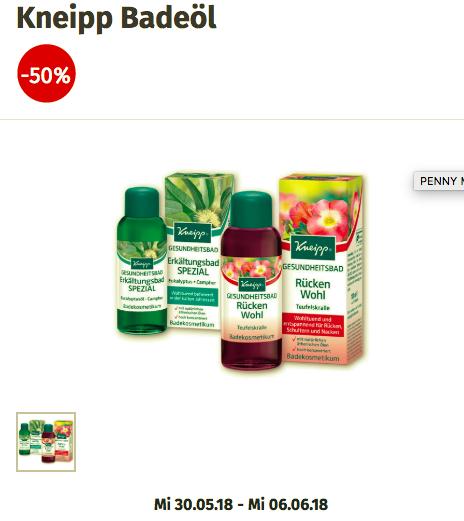 Penny: Kneipp Badeöl -50%