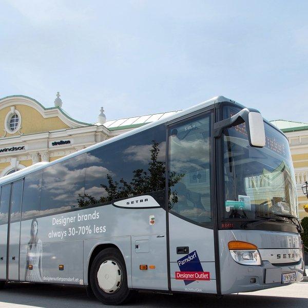 Designer Outlet Parndorf: 30% Gutschein auf ein Shuttlebus-Ticket