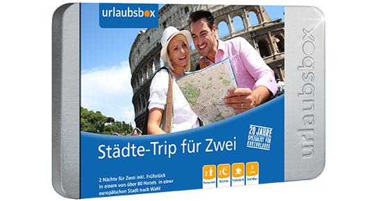 Urlaubsbox: bis zu 30% Rabatt auf Kurzurlaube und Erlebnisse