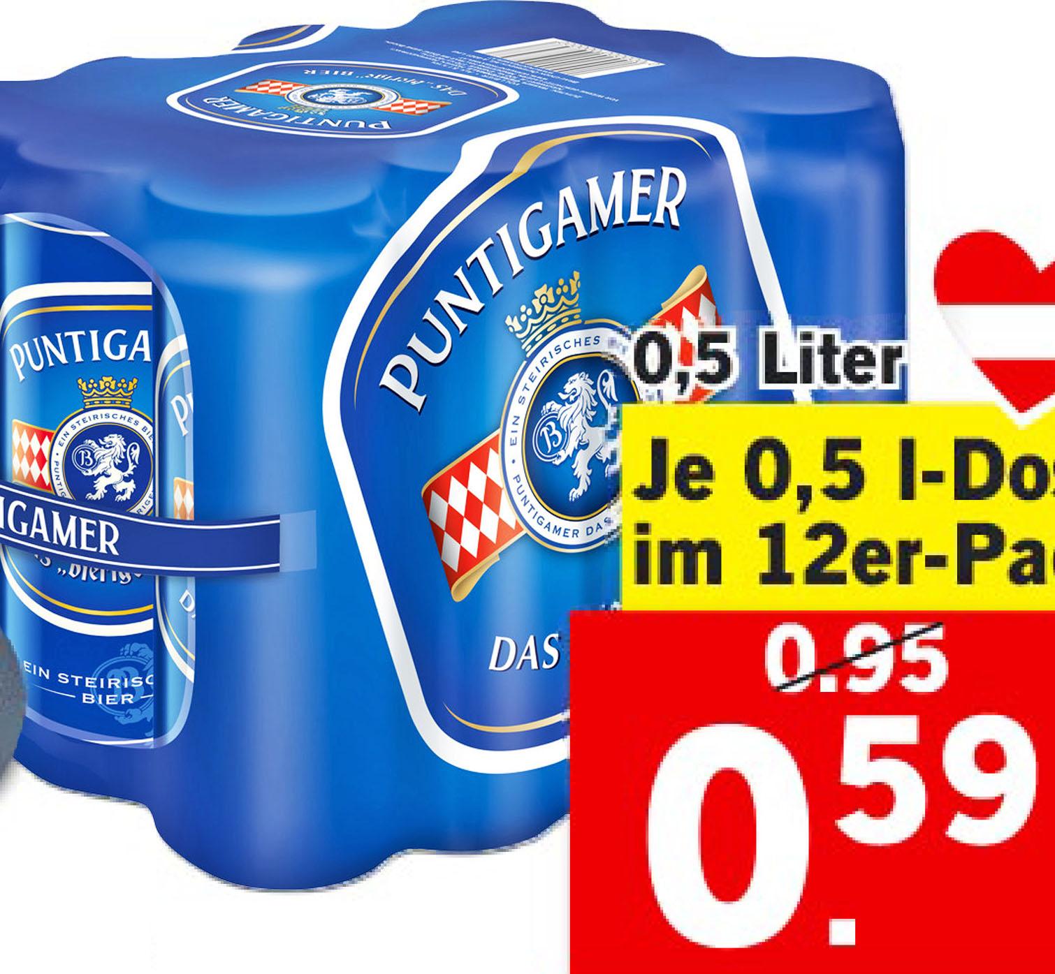PUNTIGAMER Märzenbier 12er Pack bei (Lidl)