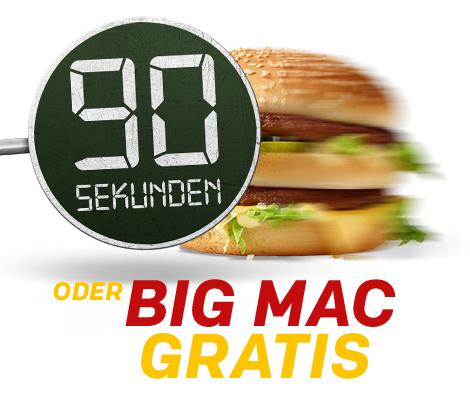 McDonald's McDrive: Bestellung über 90 Sekunden –> BigMac GRATIS