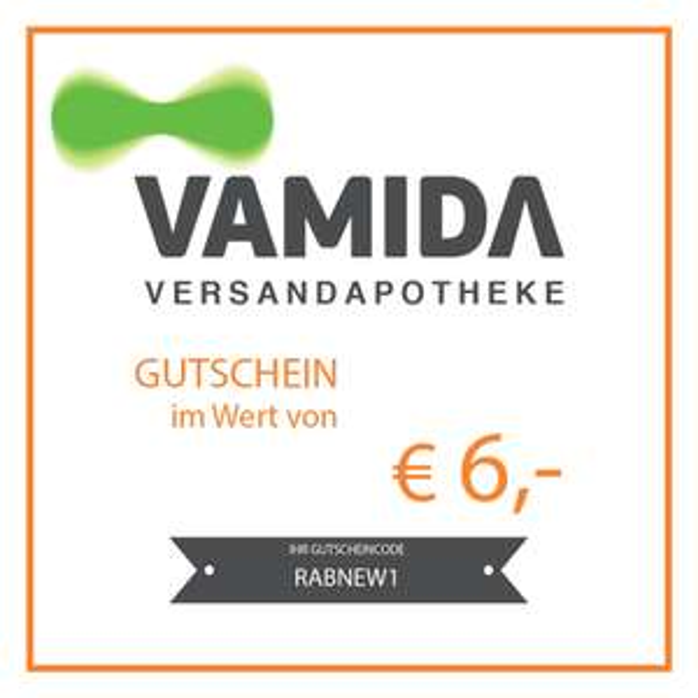 € 6 Gutschein bei Vamida-Versandapotheke