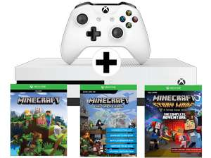 [Mediamarkt.at, Saturn.at] Xbox One S 500GB Konsole - Minecraft Complete Adventure Bundle + Fifa 18
