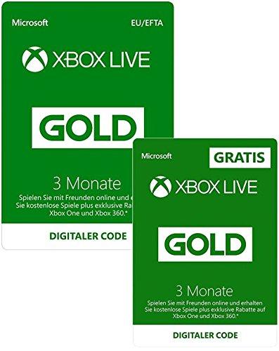 XBox Live Gold 3+3 Monate