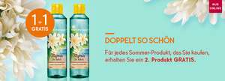 Yves Rocher: 1+1 für Sommerprodukte