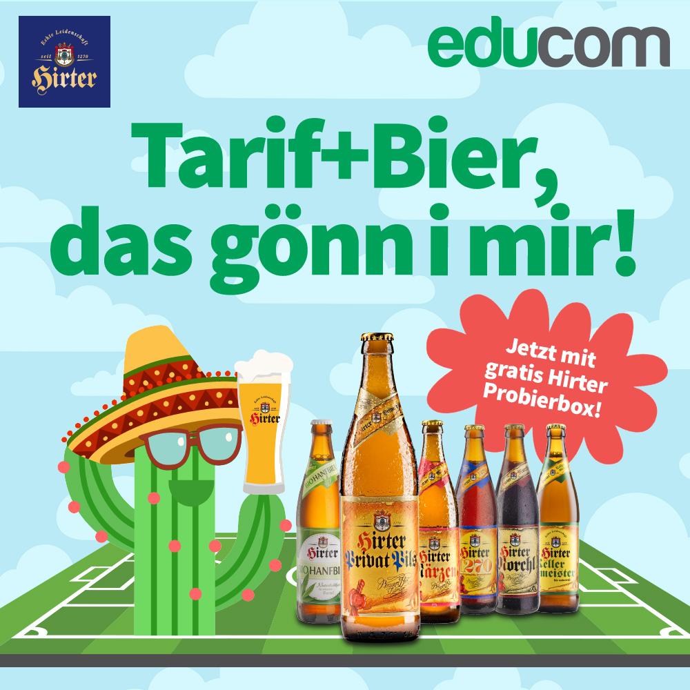 educom Tarif + gratis Hirter Bier