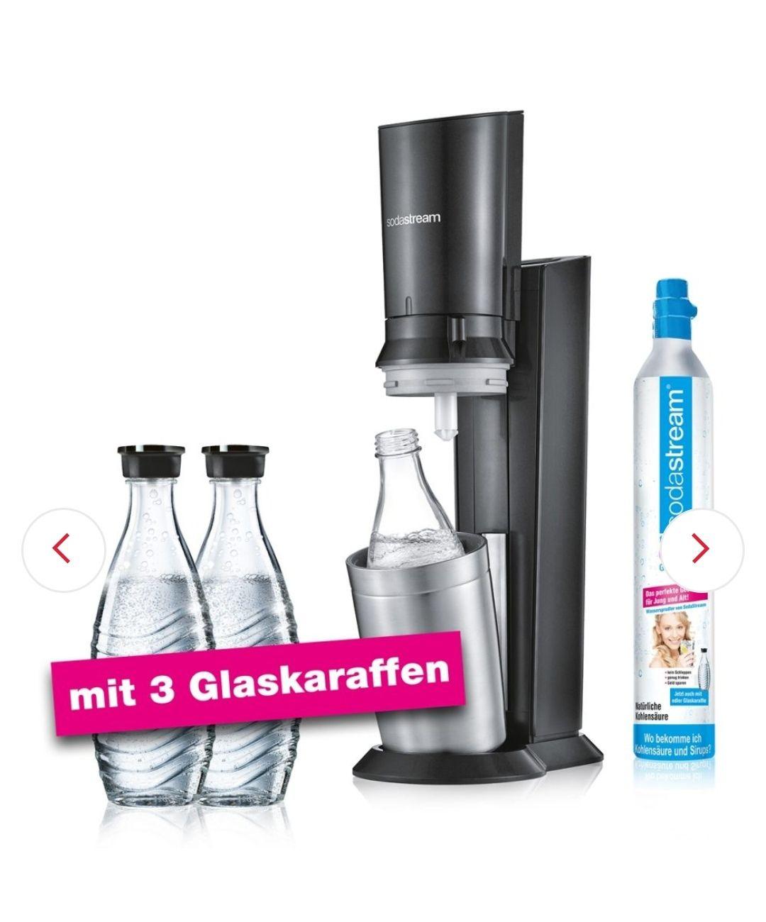 Sodastream Crystal 2.0 mit 3 Glaskaraffen inklusive um nur 95,- € (gratis Versand)