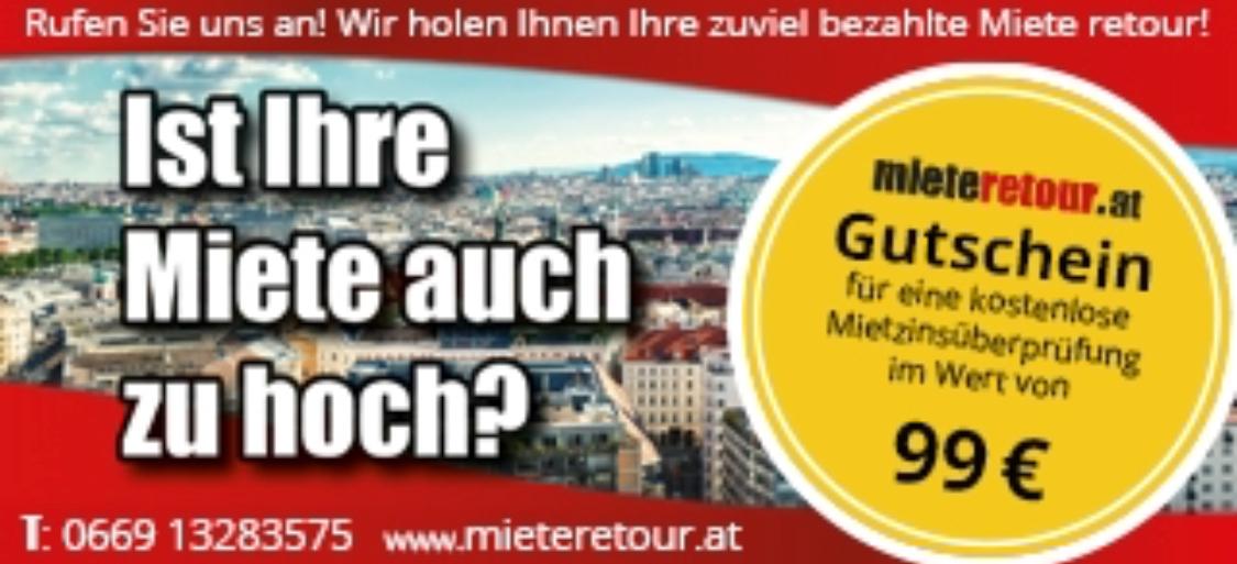 Gutschein.at App - GRATIS Mietzinsüberprüfung bei MieteRetour.at