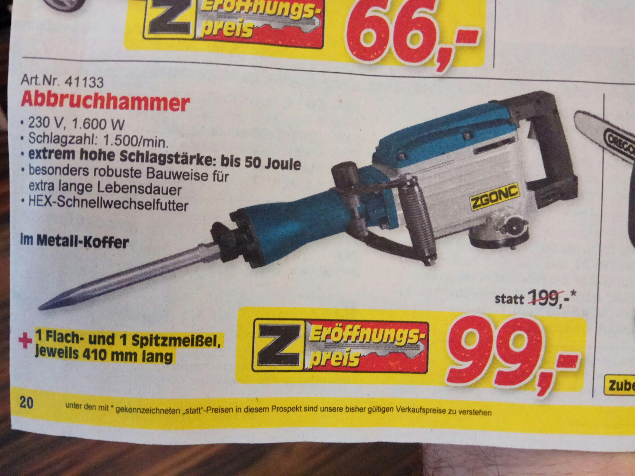 ZGONC 50 Joule Abbruchhammer 5 Jahre ZGONC Garantie  baugleich Scheppach & Co! In der Metallbox