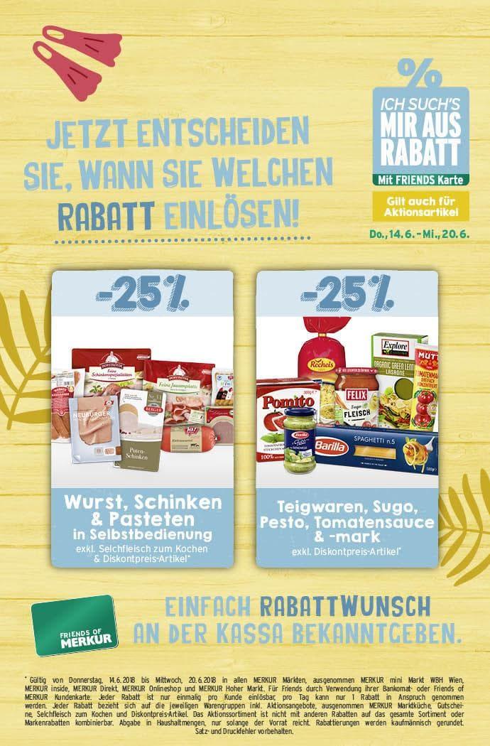 Lebensmittelhandel Angebotsübersicht 14.6.2018 - 20.6.2018