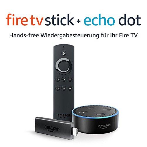 Fire TV Stick + Echo Dot (in schwarz oder weiß)