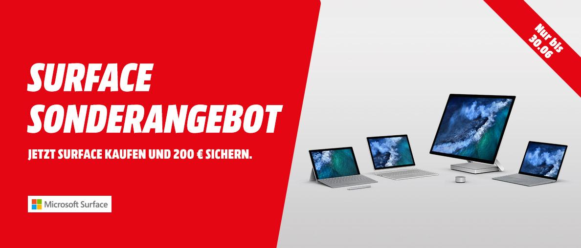 200 EUR Sofortabzug für alle Microsoft Surface Geräte bei MediaMarkt