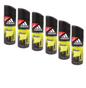 Adidas Pure Game Deodorant 150 ml 6er Pack