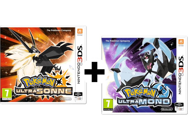 """(Nintendo 3DS) Pokémon """"Ultrasonne"""" + Pokémon """"Ultramond"""""""