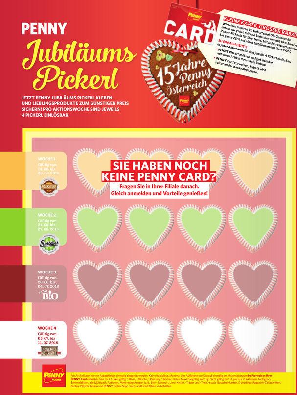 PENNY-Offline Beim Einkauf mit der Pennycard (Bestandskunden) Kostenloses Heft mit 4x4 = 16 Sticker -25% Rabattsticker im Heft