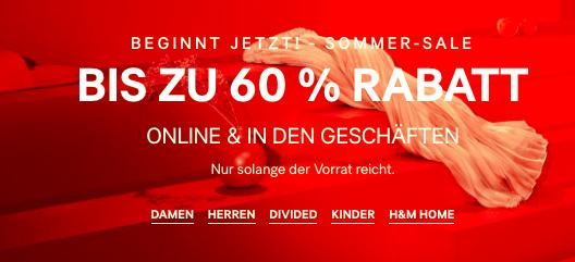 Summer Sale bei H&M bis zu -60% Rabatt