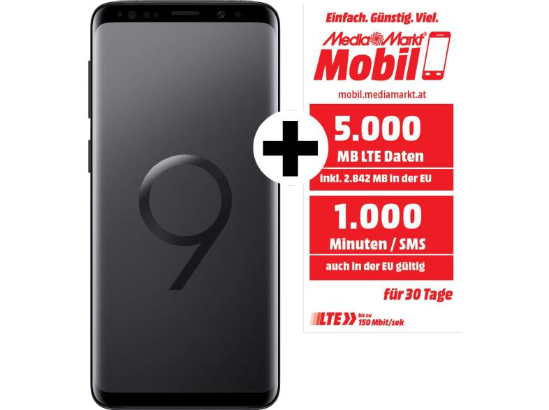 Samsung Galaxy S9 Duos 256 GB + 2 Jahre Media Markt Mobil (5 GB, 1000 Min/SMS)