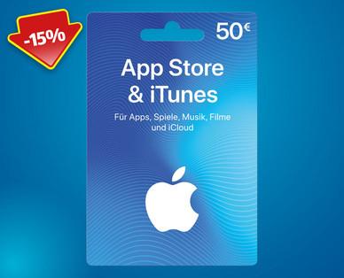 iTunes App Store Guthaben - 50 € um 42,50 € - 25.-30.6.2018